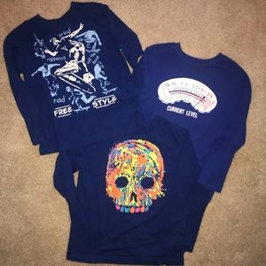 3, boys size Small long sleeved shirts